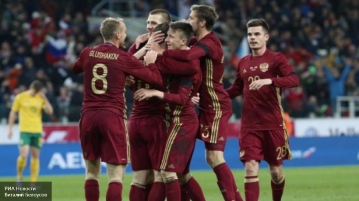 Сборная России по футболу победила соперников из Литвы