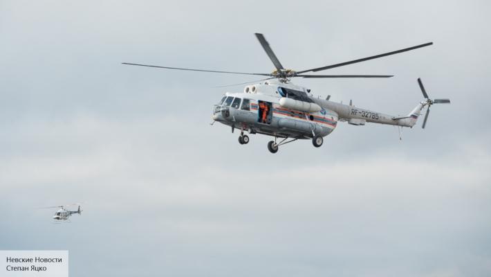 Зацепившийся за провода вертолет рухнул в Кабардино-Балкарии
