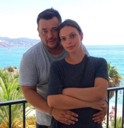 Сергей Жуков с супругой Региной Бурд