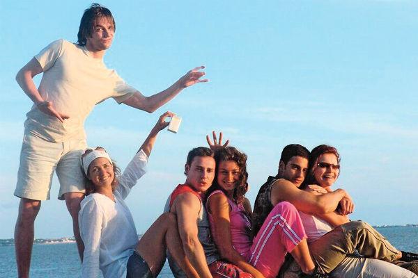 С коллегами по сериалу «Бедная Настя» на игре «Форт Боярд, 2004 год