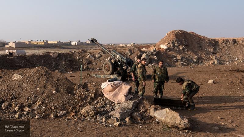 САА провела ответный обстрел позиций боевиков на юго-западе от Алеппо