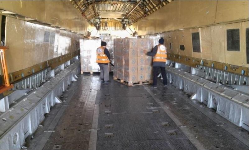 Доставка гуманитарной помощи в Аль-Хасаку