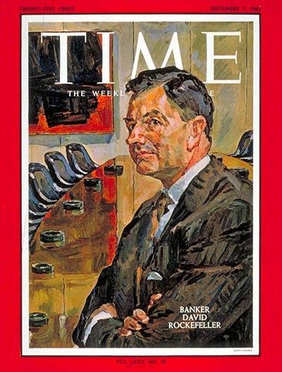 Дэвид Рокфеллер на обложке журнала Time в 1962 году
