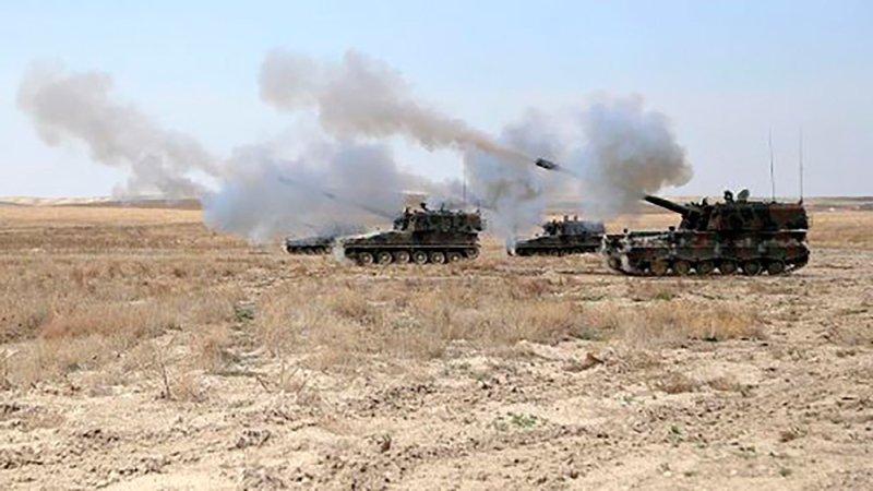 Турецкие войска наносят удары по позициям курдских формирований