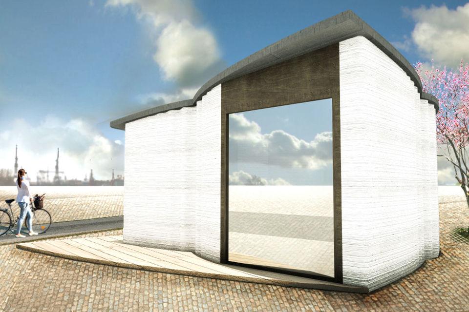 На 3D-принтере можно напечатать дом весьма причудливой формы