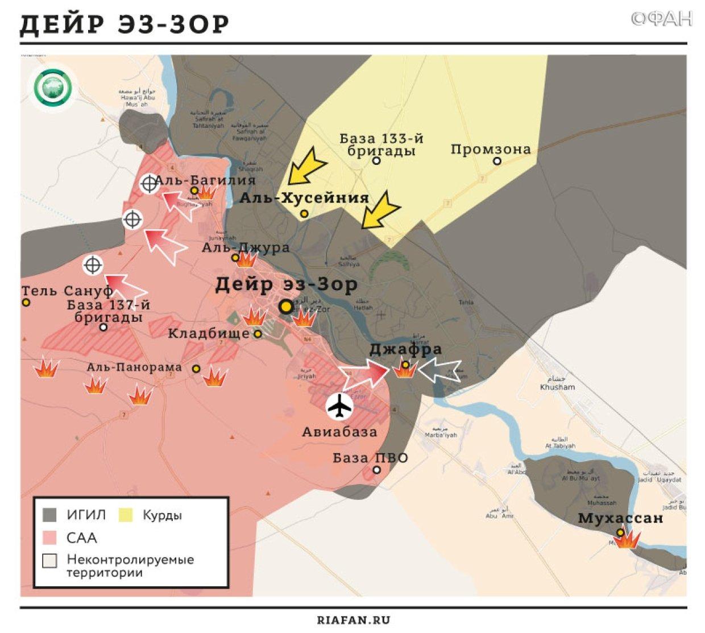 Карта военных действий — Дейр эз-Зор