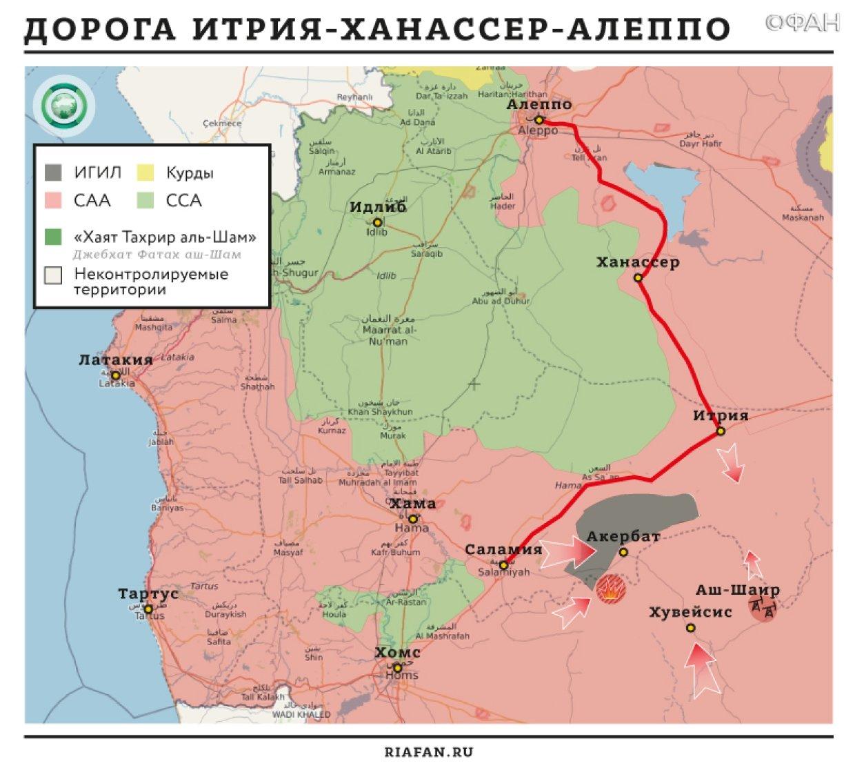 Карта военных действий — Хама