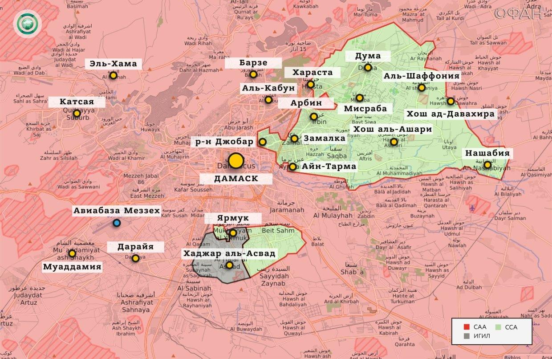 Карта военных действий — Дамаск