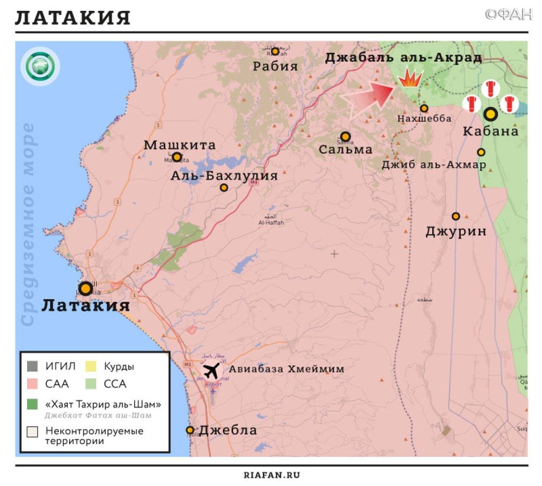 Карта военных действий — Латакия