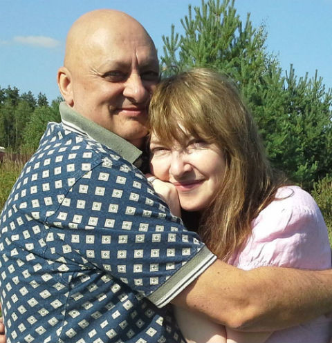 Катя Семенова с мужем Михаилом Церишенко