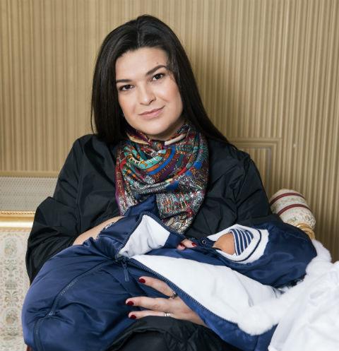 Виктория Райдос с сыном