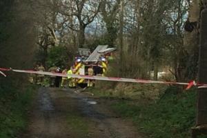 Самолет разбился в Северной Ирландии, есть погибшие