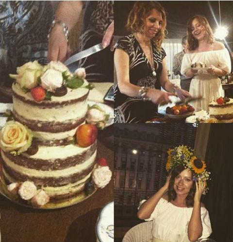 Такой кулинарный шедевр Юлия подарила знаменитой фотохудожнице Екатерине Рождественской