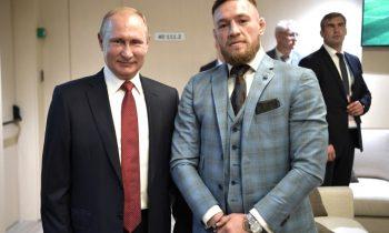 Макгрегор прибыл в Москву на финал ЧМ-2018 и сфотографировался с Путиным