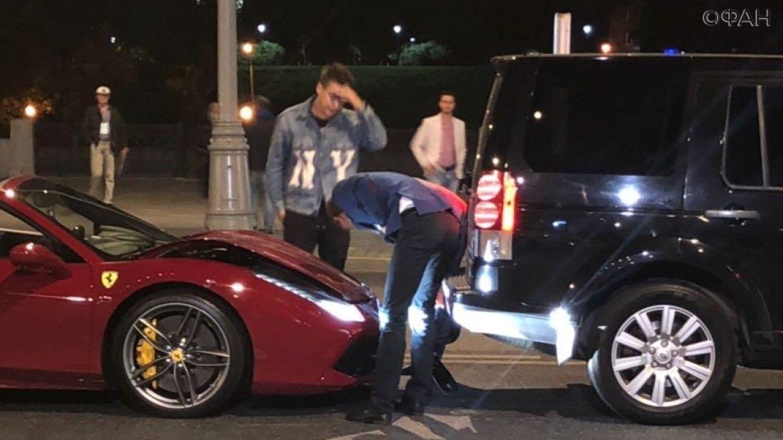 Известный бизнес-коуч Портнягин разбил свой Ferrari в ДТП на Краснопресненской набережной