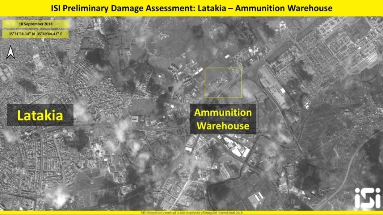 Сирия: опубликованы спутниковые снимки результатов удара ВВС Израиля по объектам в Латакии