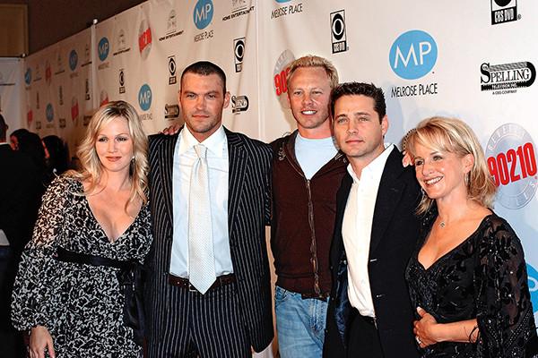 Одна из редких встреч звезд «Беверли-Хиллз 90210», ноябрь 2006 года