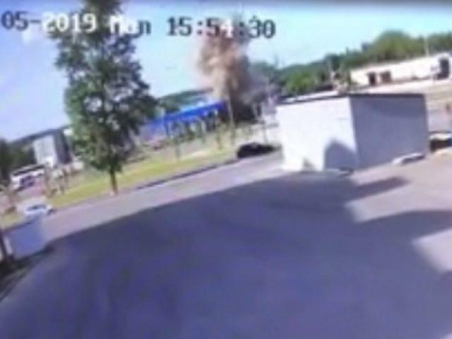 ФАН публикует видео взрыва на АЗС в Серпухове, в результате которого погибли три человека