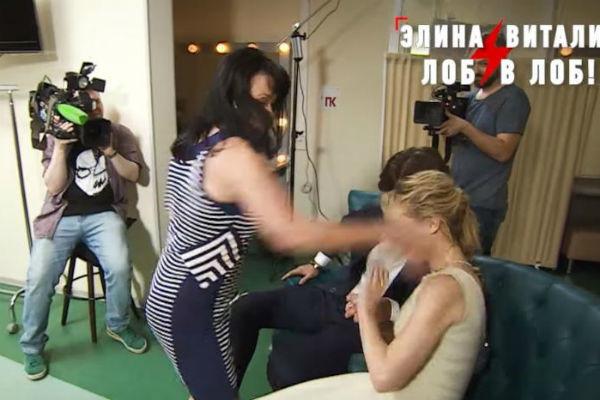 Мазур нанесла несколько ударов по лицу Виталины