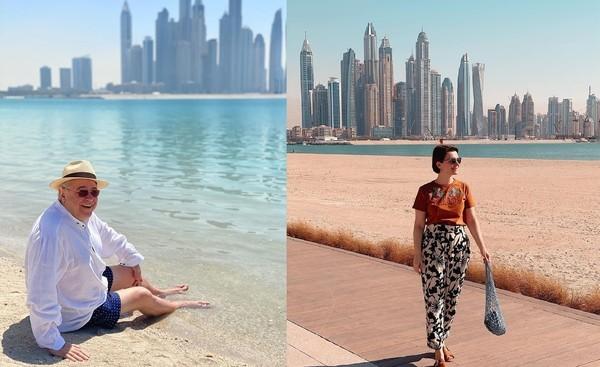 Супруги отдыхают за границей