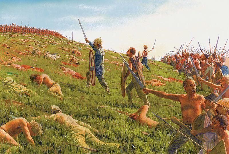 Сражение восставших рабов против римских легионов. Реконструкция Стива Нуна.