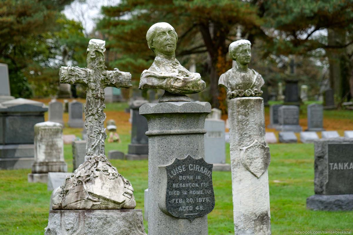Луиза Сирар родившаяся во Франции, умершая в Италии и похороненная в Бруклине.
