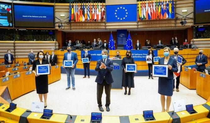 Премию Сахарова вручили оппозиции Беларуси