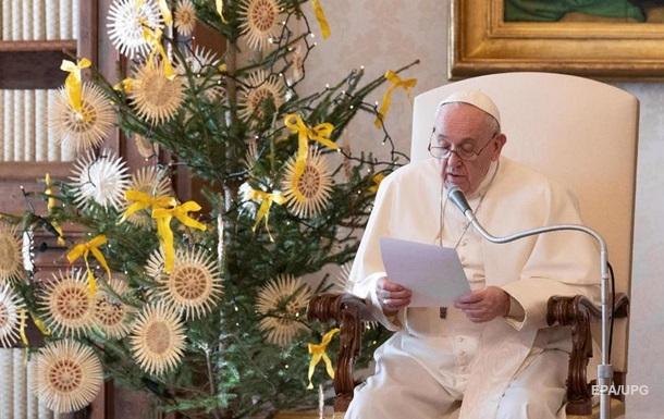 Папа Франциск впервые пропустит новогоднюю мессу