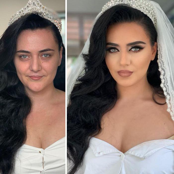 «Жених не узнает»: впечатляющие фото невест до и после макияжа. Часть 2