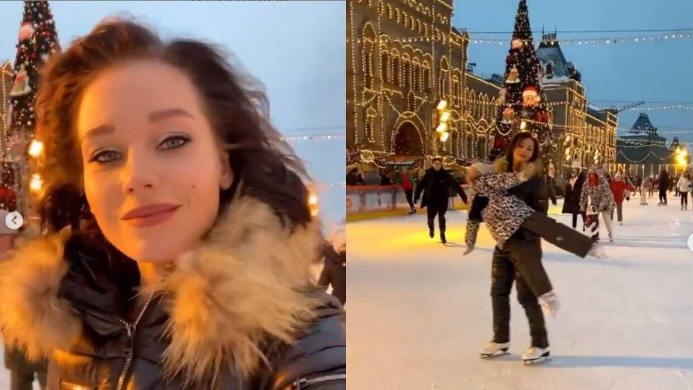 Кристина Асмус устроила дочке Харламова отличные выходные на катке