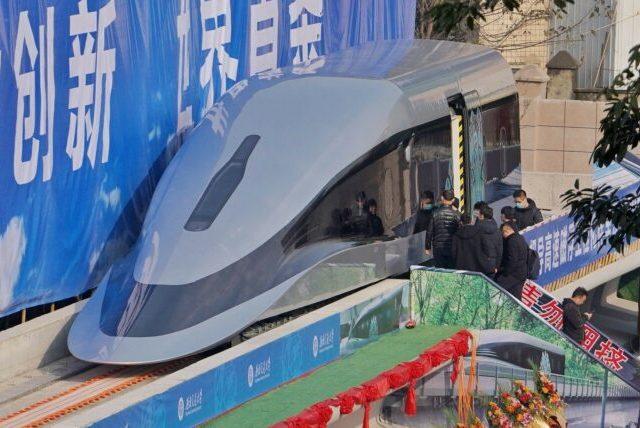 В Китае представили прототип суперскоростного поезда на магнитной подушке