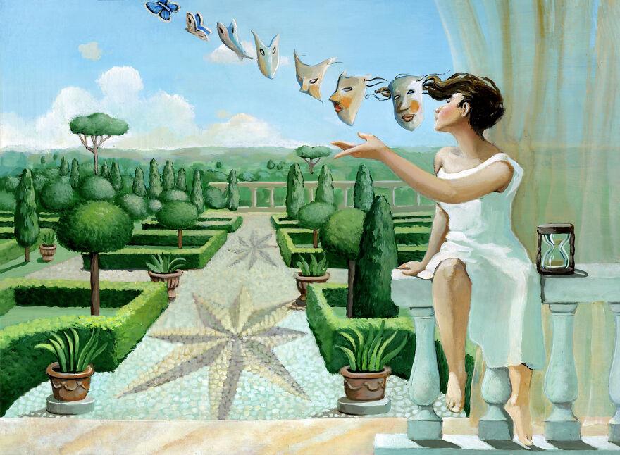 Итальянка создает сюрреалистичные и искренние иллюстрации о нашем обществе