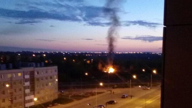 СМИ сообщили о возгорании на трубопроводе в Уфе