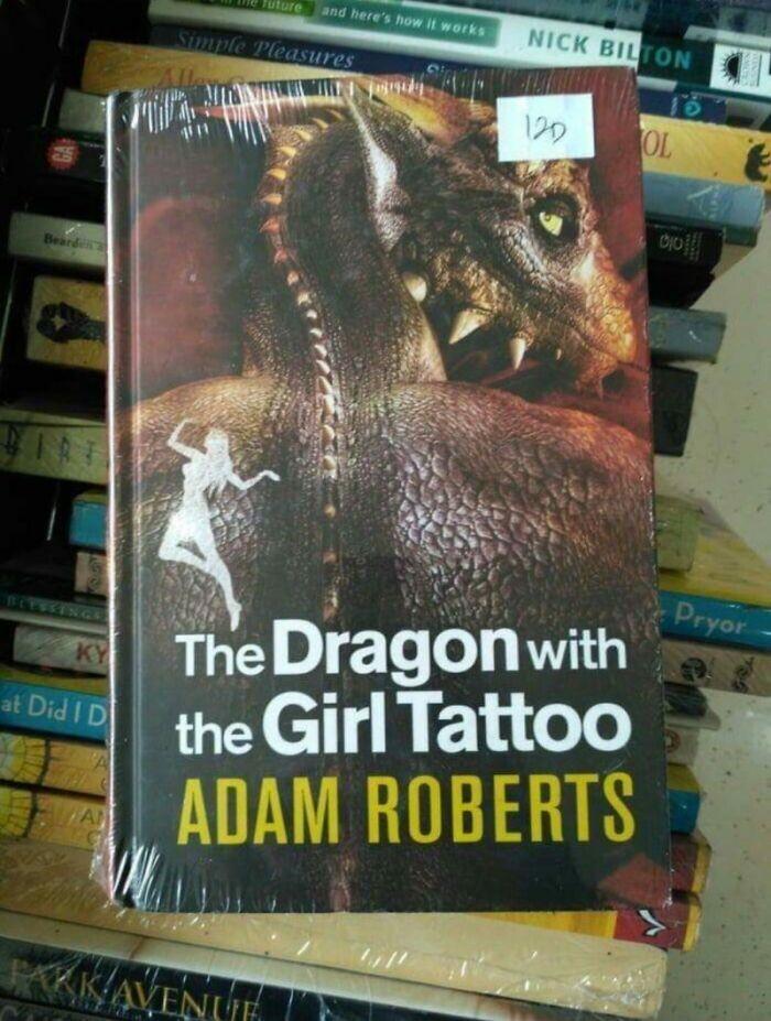 Надпись на обложке: «Дракон с татуировкой девушки»