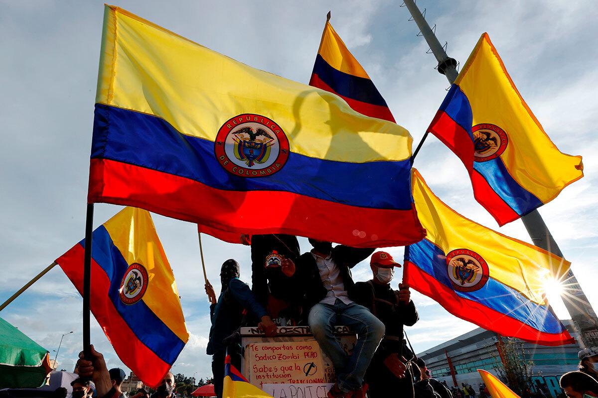 Протестные акции в Колумбии