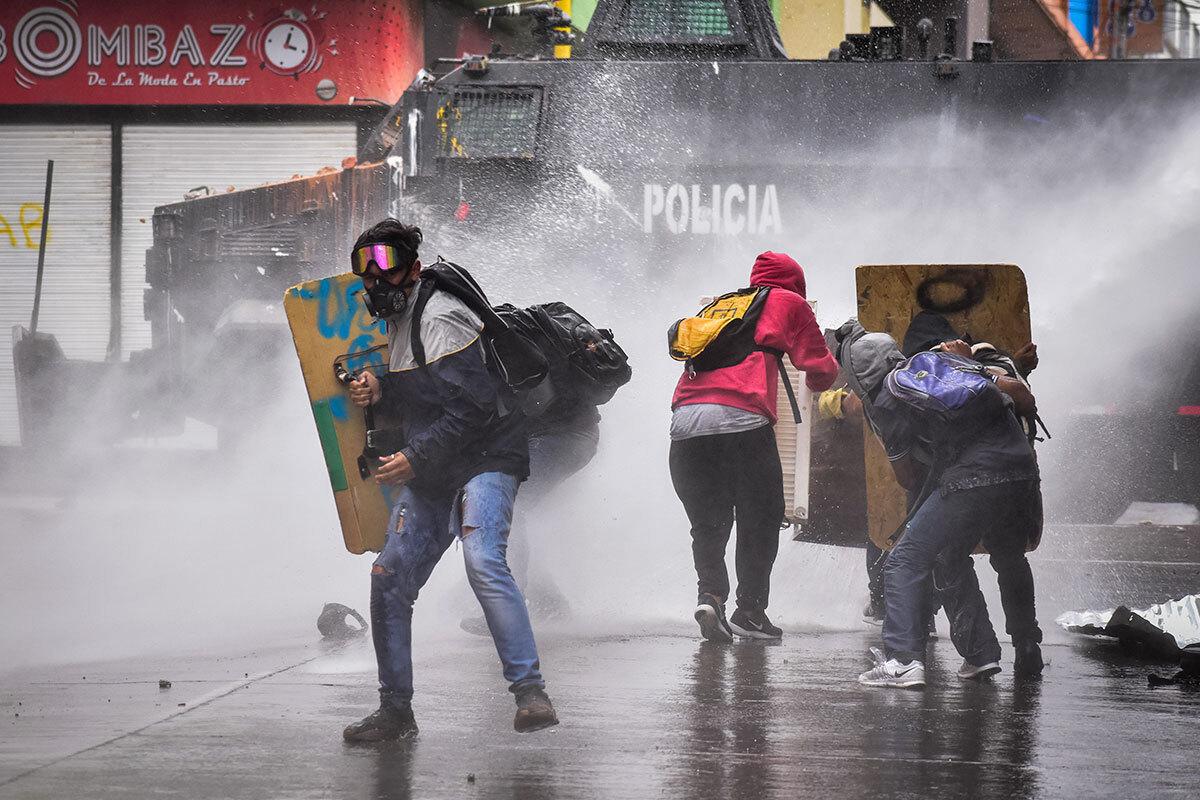 Протестные акции в Колумбии © ZUMA/ТАСС