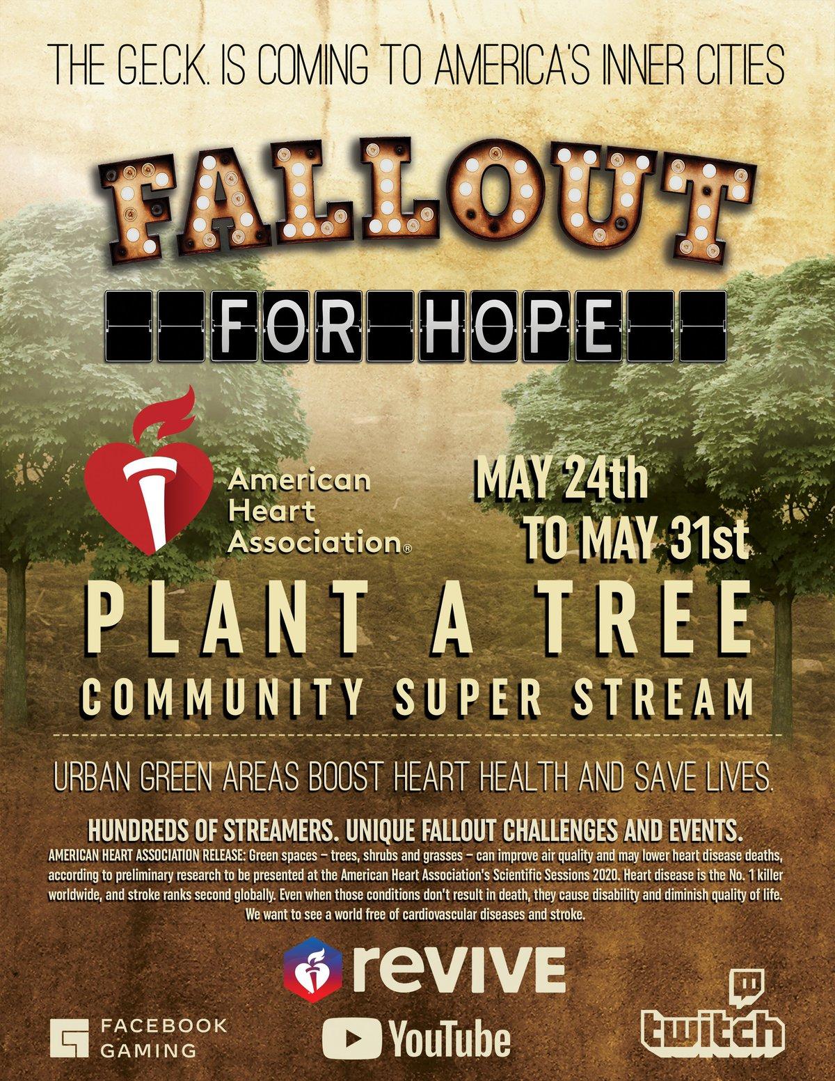 Игроки Fallout запустили сбор средств на посадку деревьев