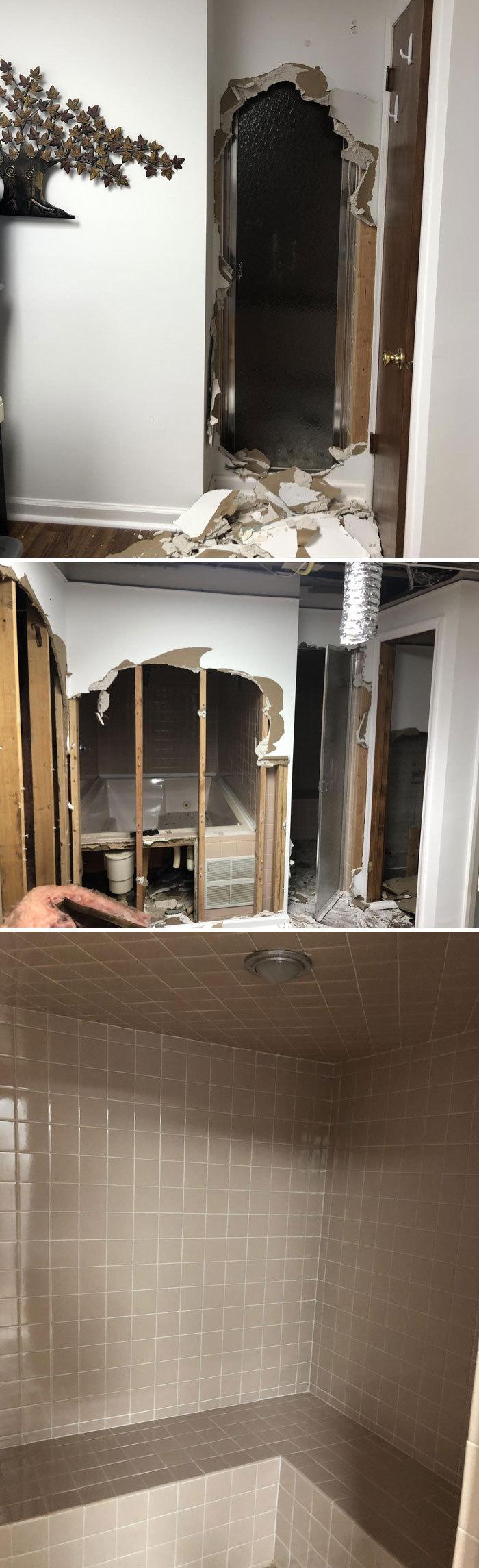 В новом доме во время ремонта была обнаружена парная комната.