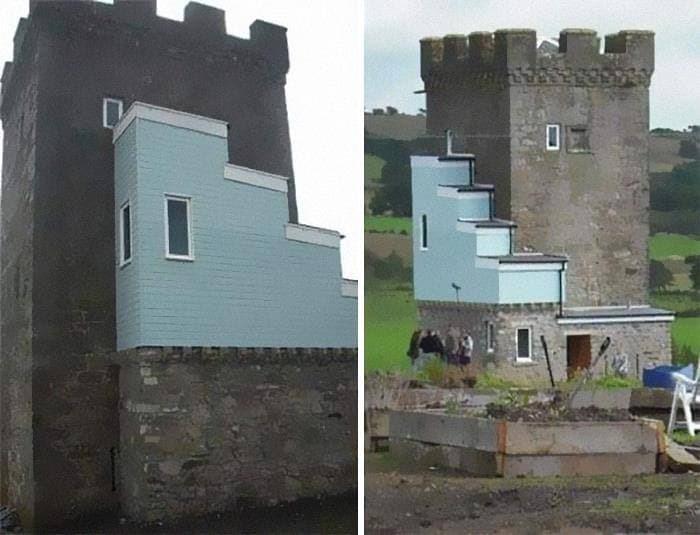 Реконструкция 500-летнего замка. Выглядит потрясающе (нет).