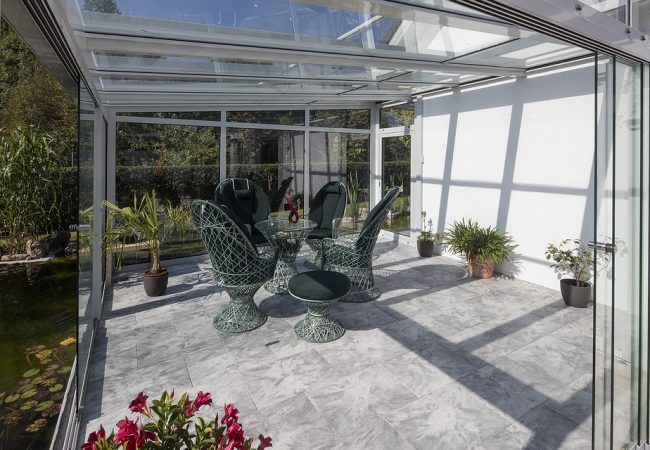 Остекление зимнего сада. Создайте оазис, радующий глаз круглый год