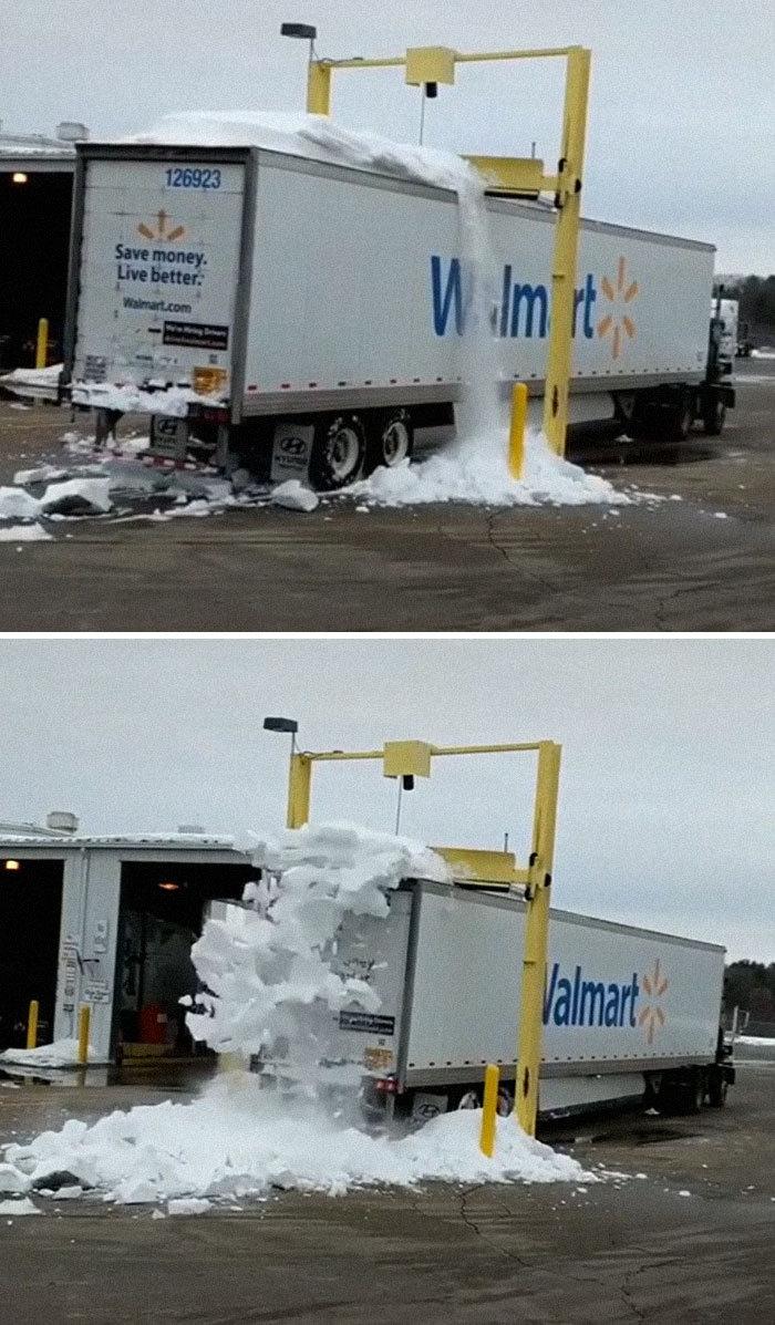 Снегоуборочная машина для грузовых автомобилей.