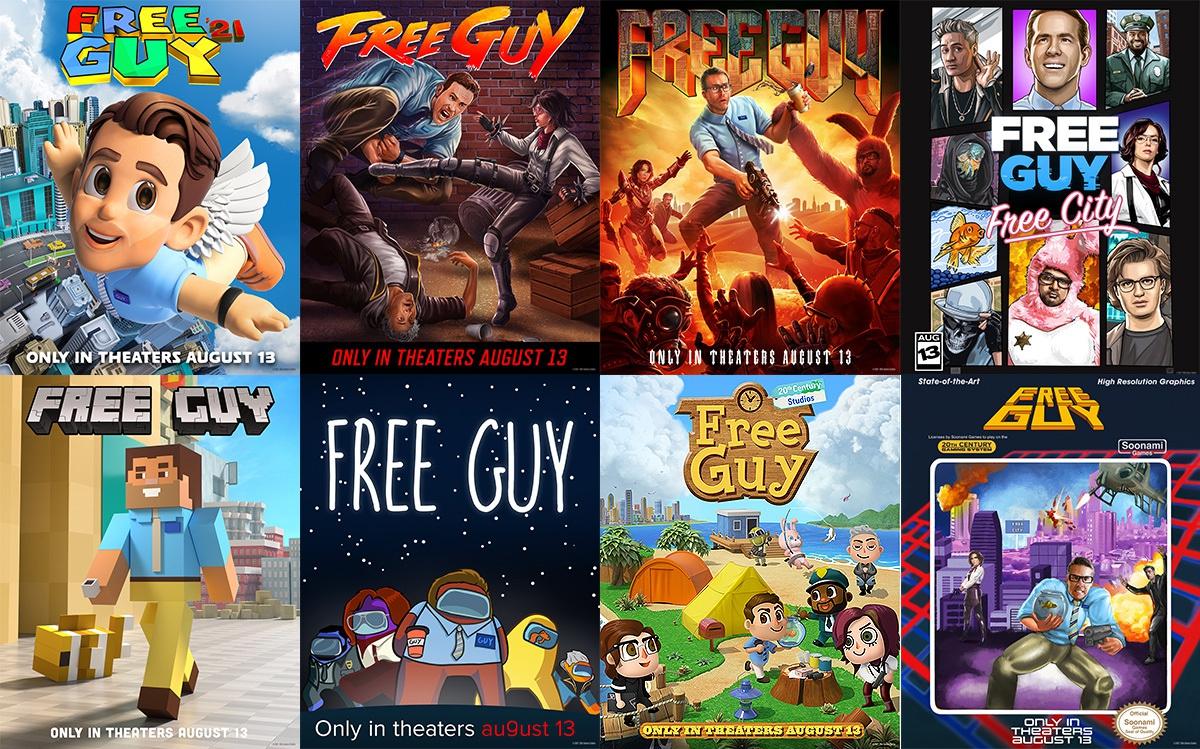Twitter-аккаунт фильма опубликовал постеры, стилизованные под известные игры: Super Mario 64, Street Fighter, Doom, GTA: Vice City, Minecraft, Among Us, Animal Crossing и Mega Man.